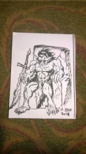 Troll for monster drawing club