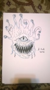 The watcher ({beholder) for monster drawing club