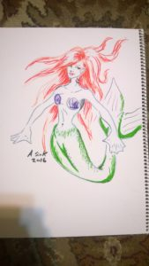 Mermaid for monster drawing club